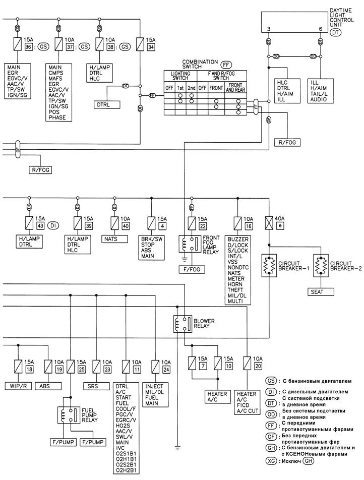Схема электропитания.
